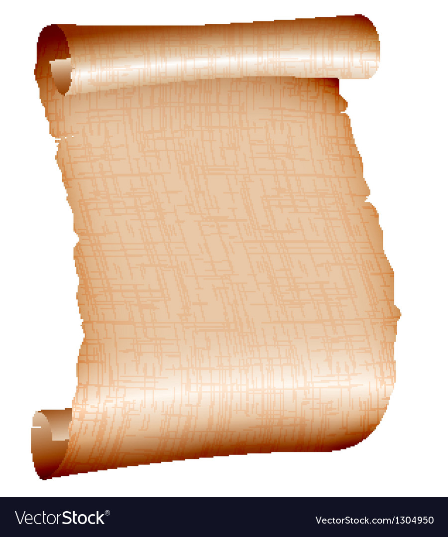 old blank scroll paper on white background vector image, Powerpoint templates