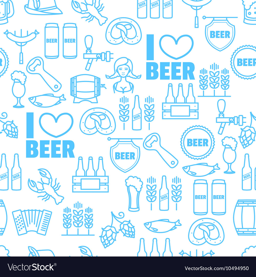 Seamless background of Oktoberfest vector image