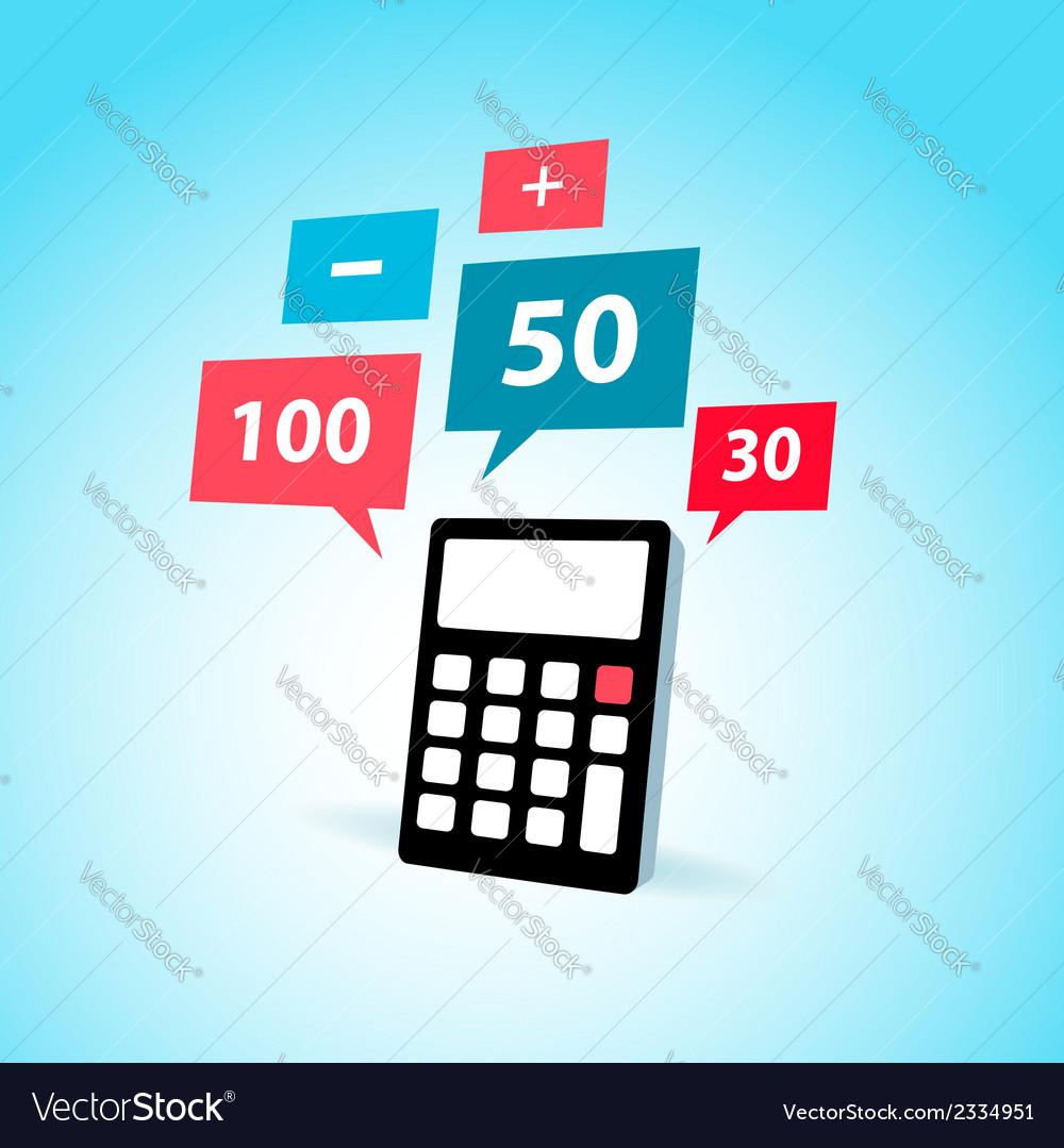 Finance element calculator icon vector image