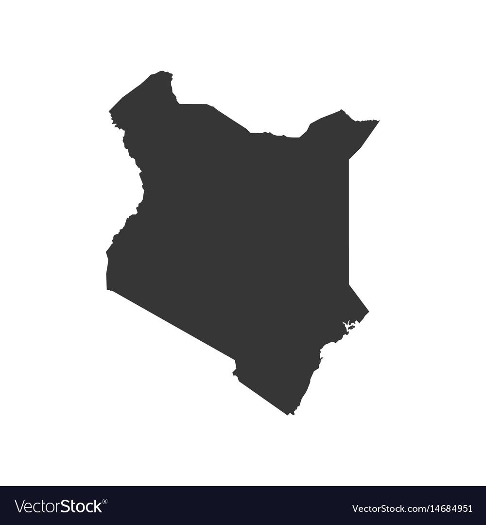 Kenya Map Silhouette Royalty Free Vector Image - Kenya map