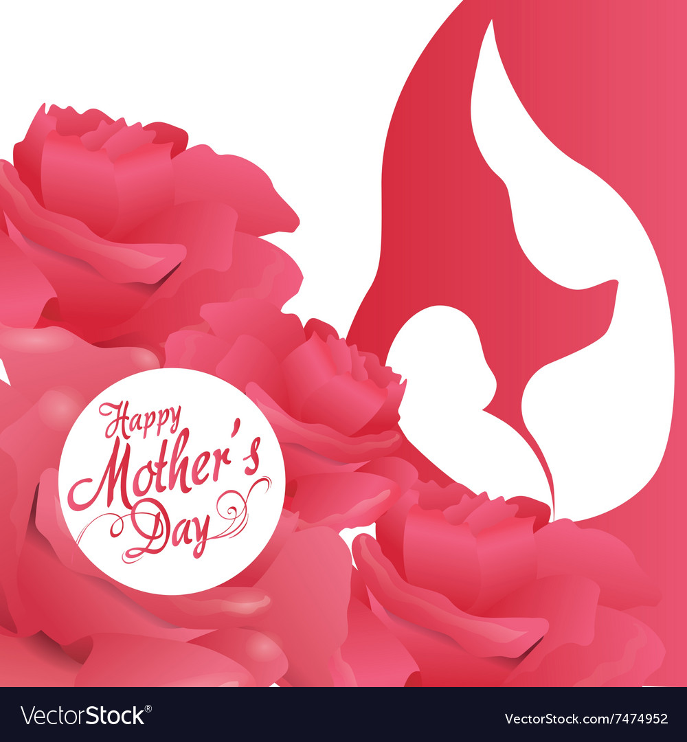 happy mothers day design royalty free vector image