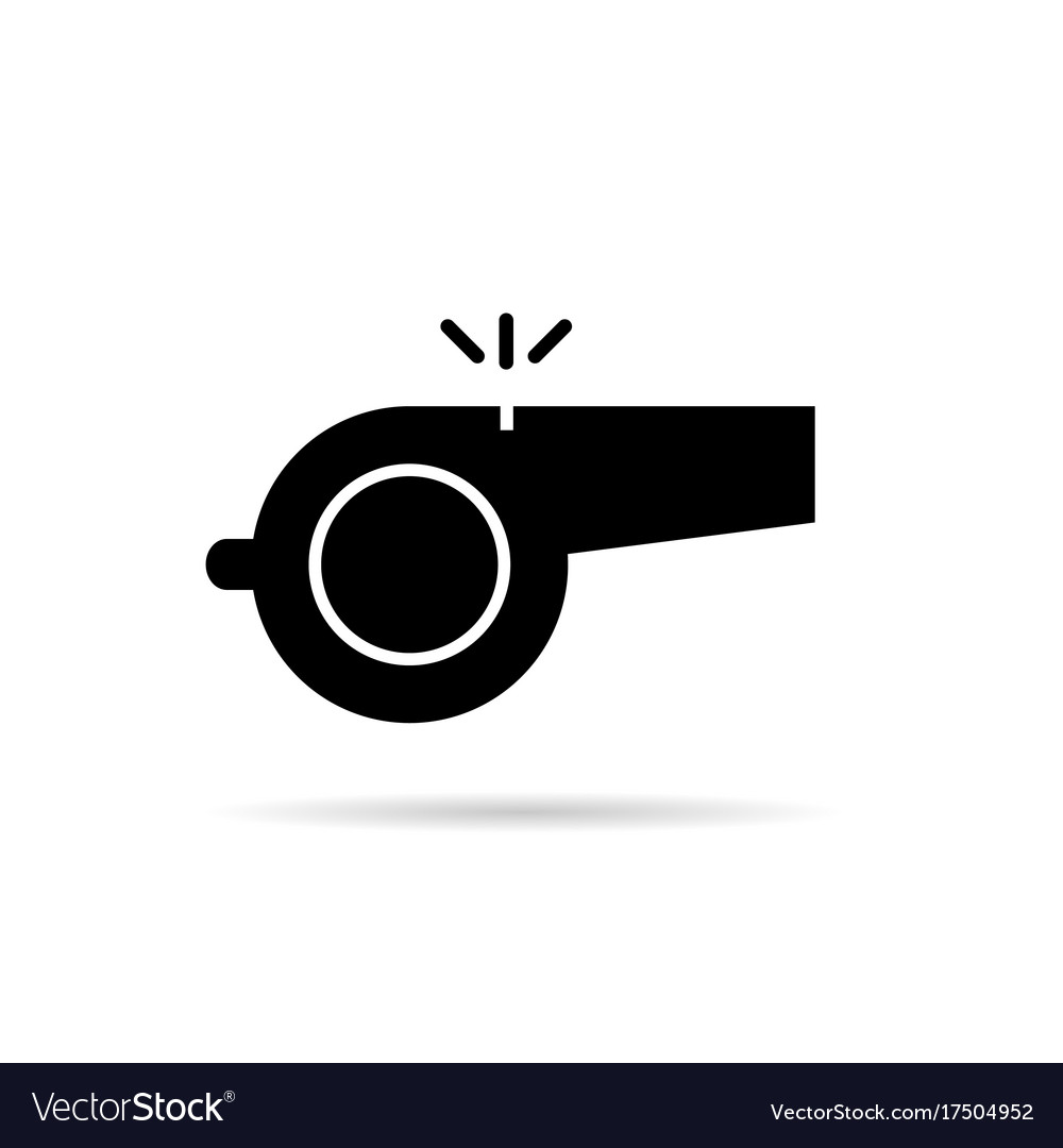 Whistle black silhouette vector image
