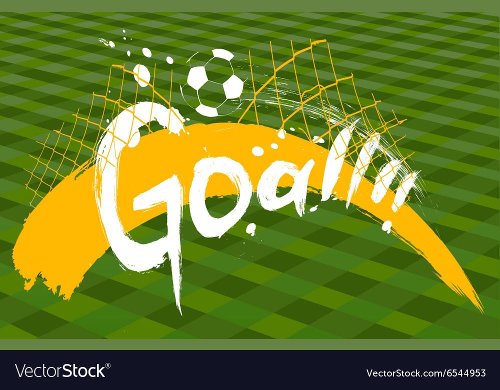 Soccer design over green background vector image