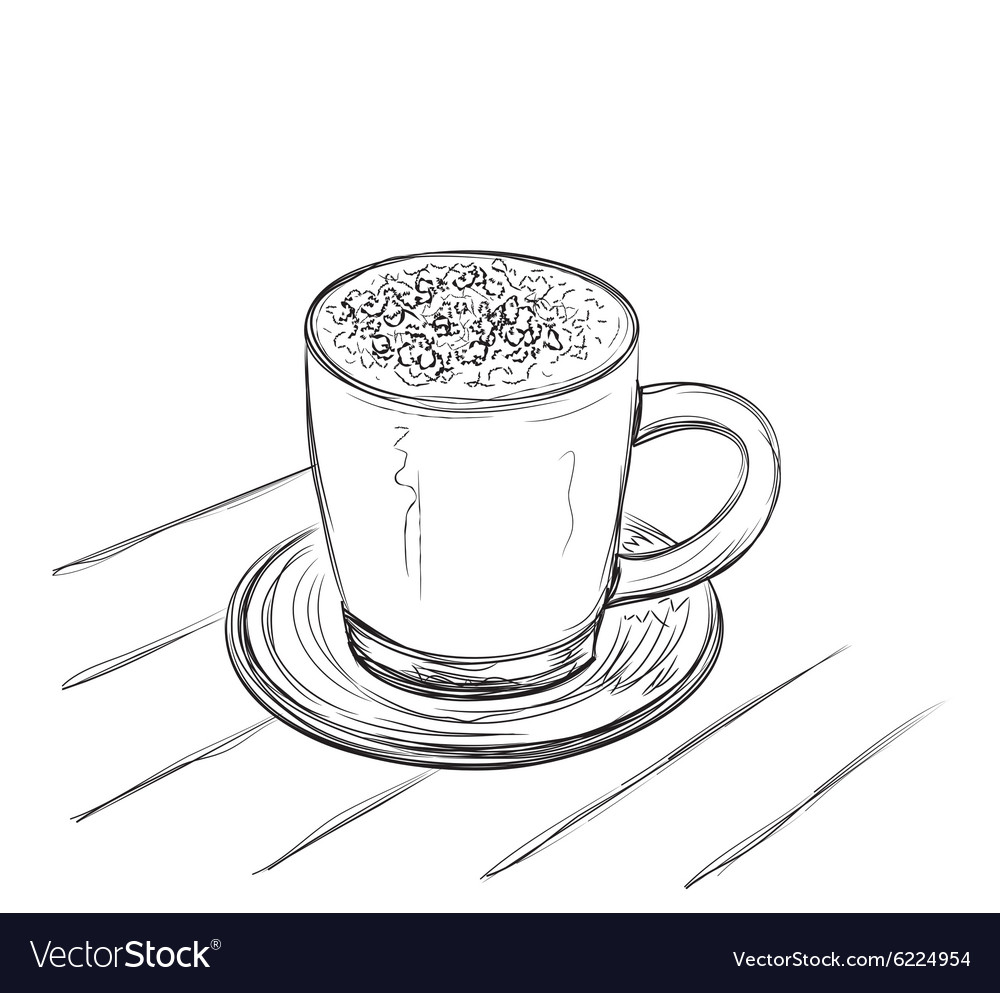Coffee cup sketch - Coffee Cup Sketch Vector Image