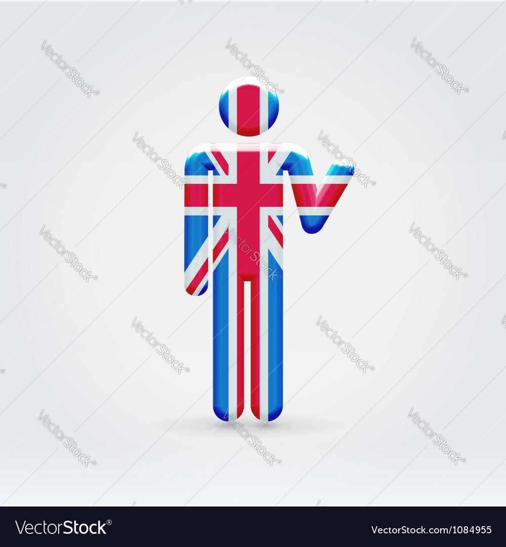 UK symbolic citizen icon vector image