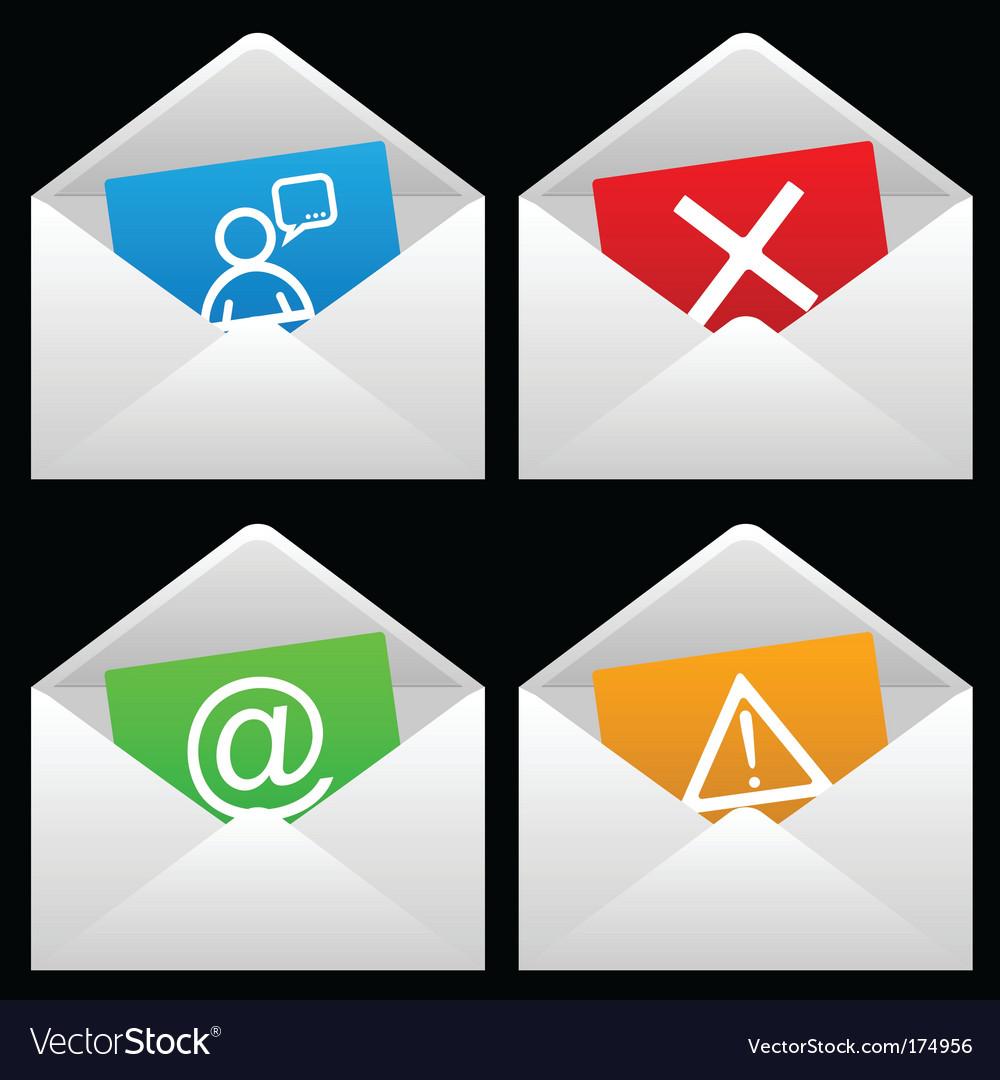 White mail envelopes Vector Image