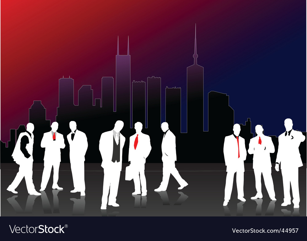 White men silhouettes Vector Image