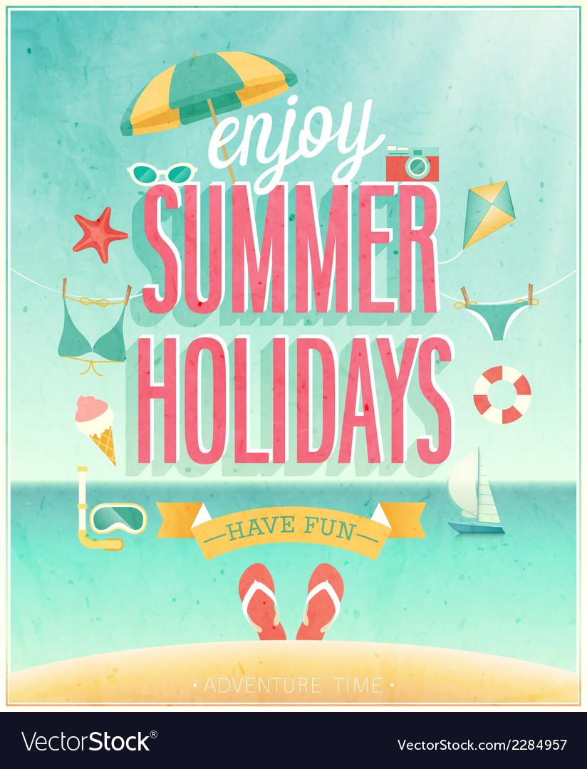 Summer holydays vector image
