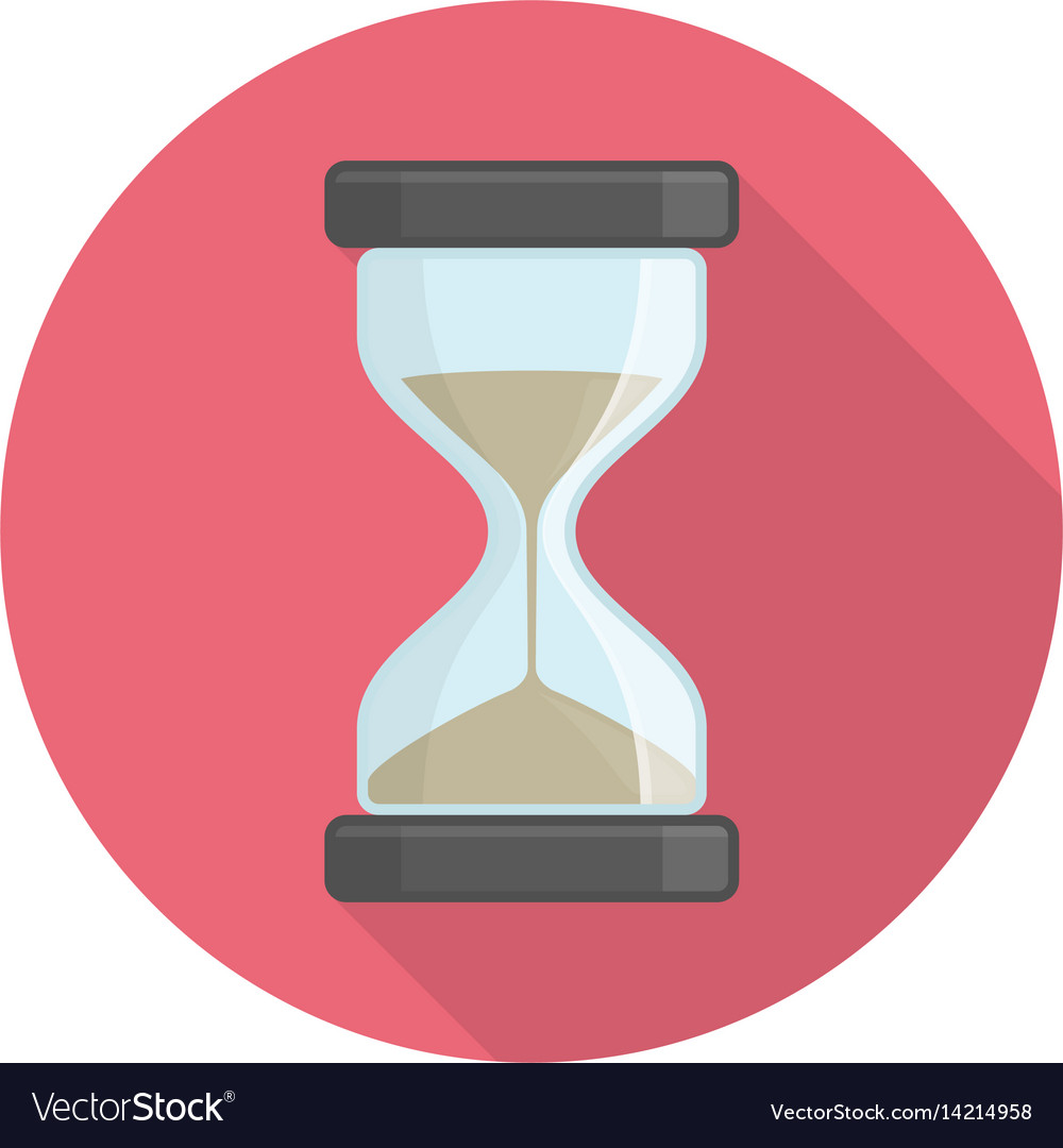Hourglass icon on red vector image