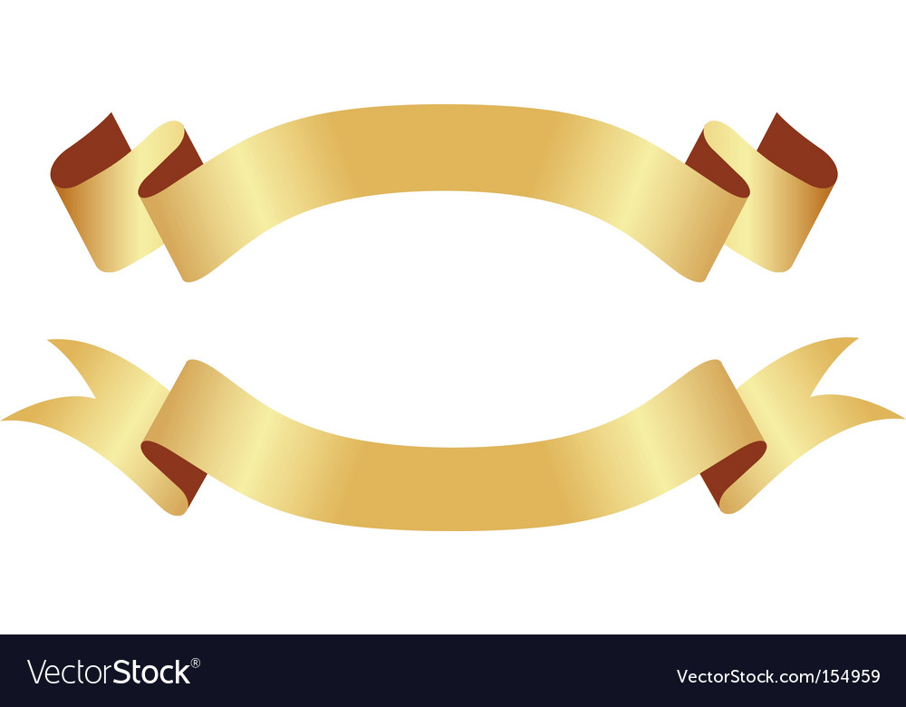 Gold Banner Vector Png