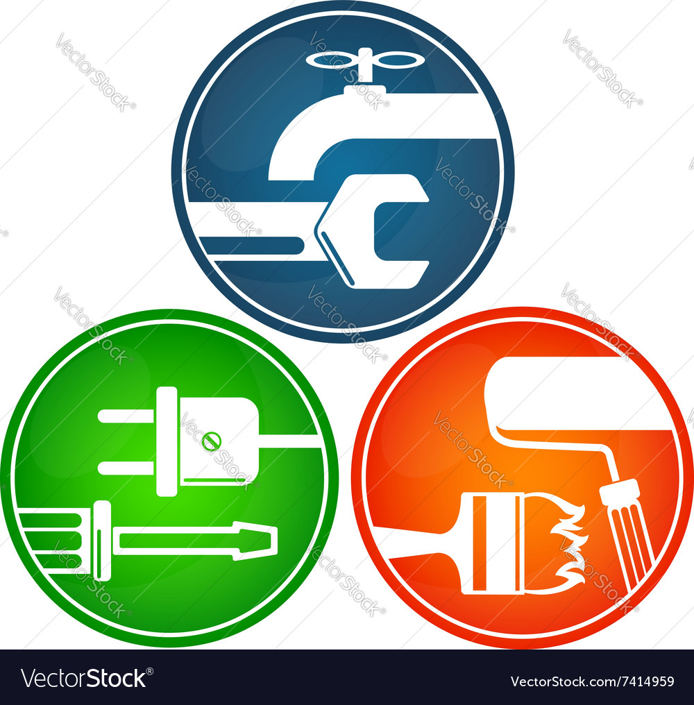 Symbols for home renovation royalty free vector image symbols for home renovation vector image buycottarizona Image collections
