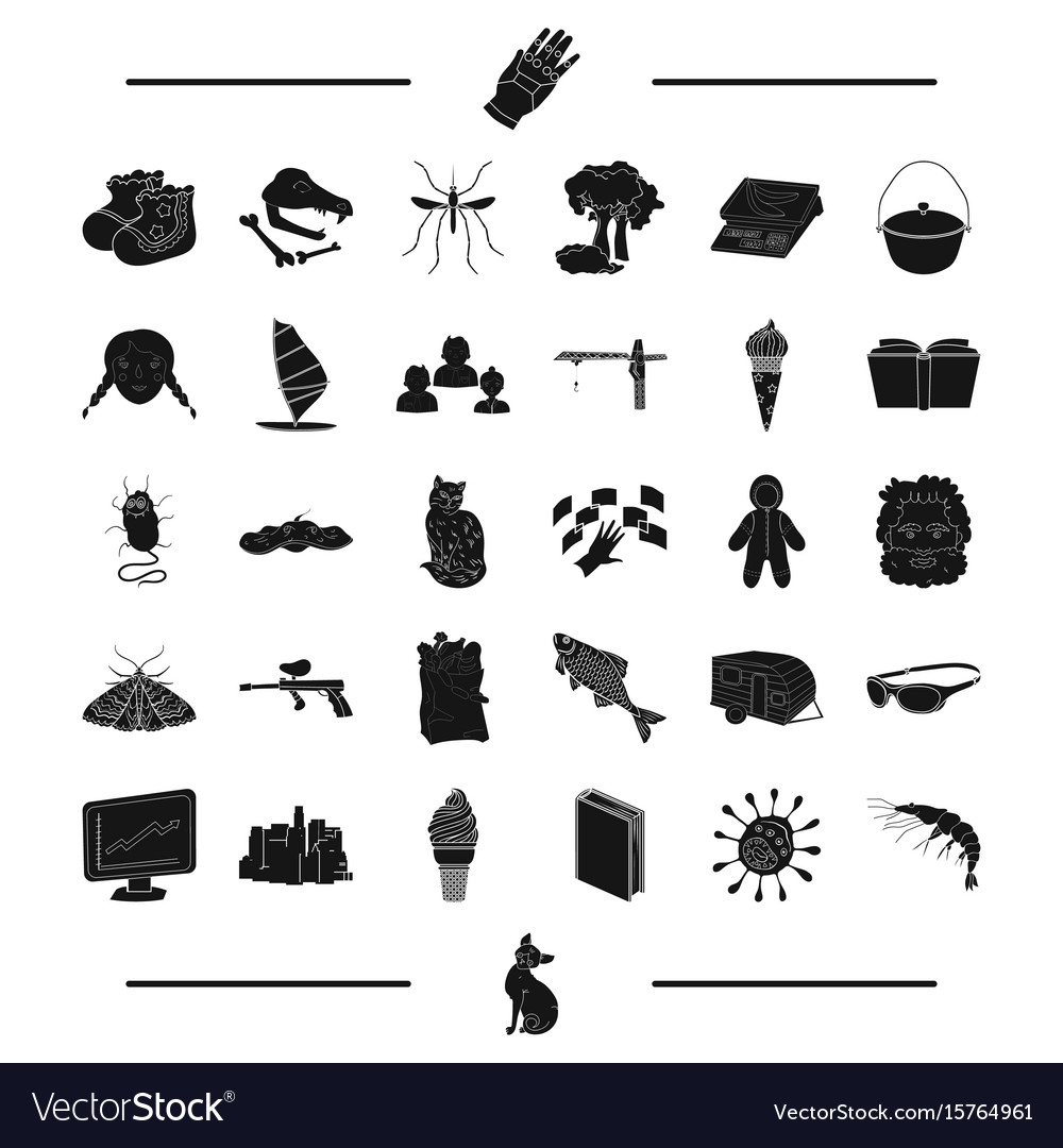 Animal paintball insect and other web icon in vector image