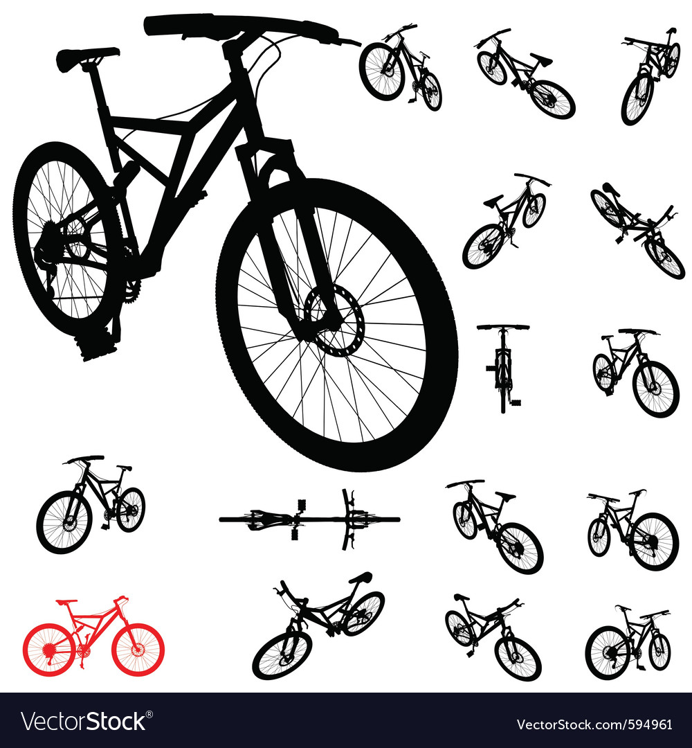 Bicycle silhouette vector image
