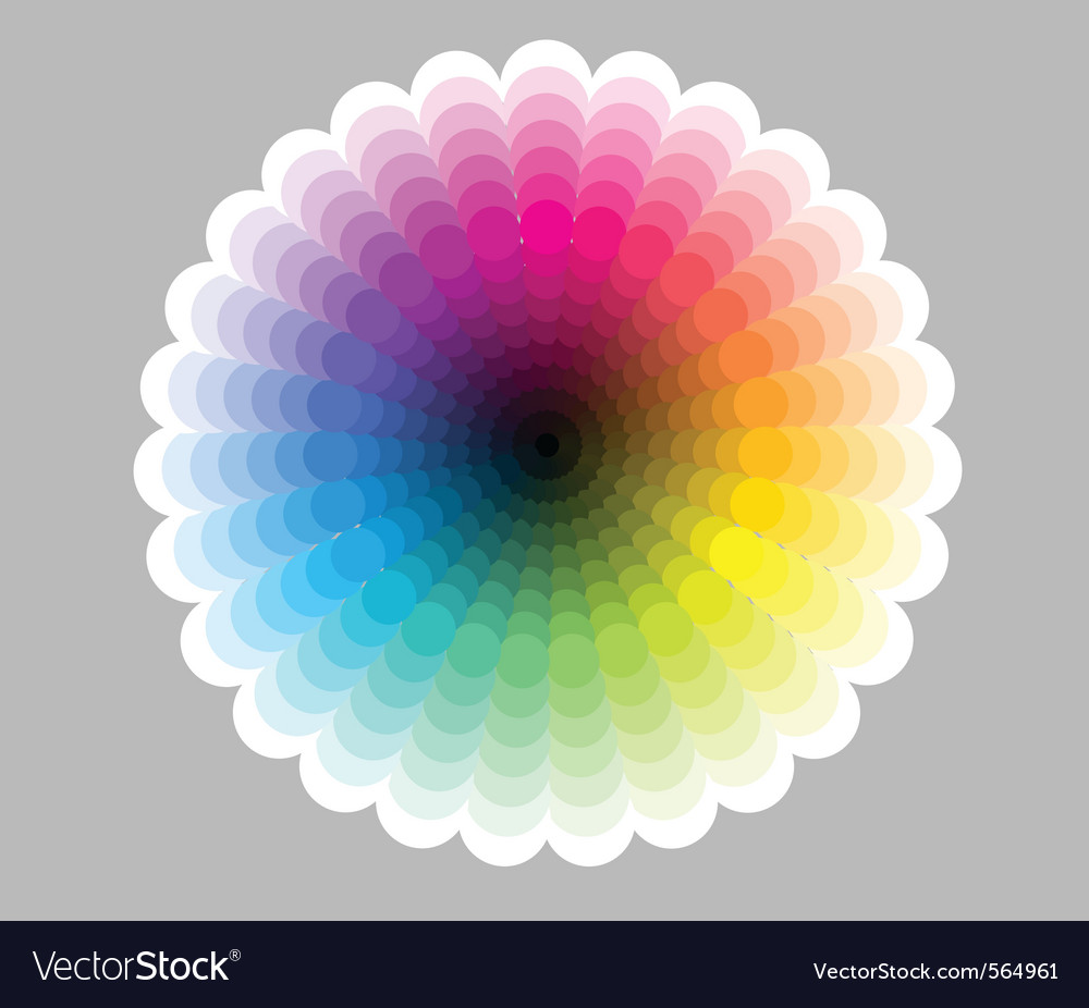 Color circle chart vector image