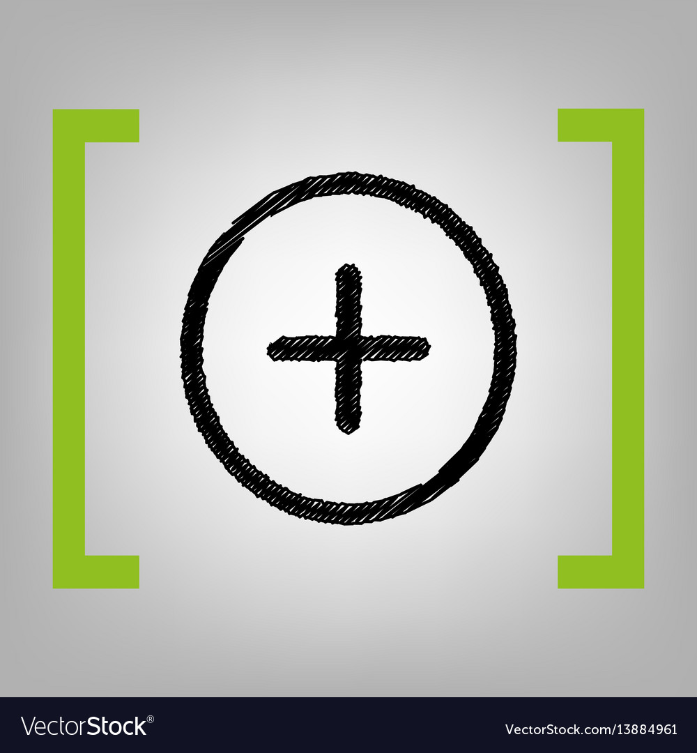 Positive symbol plus sign black scribble vector image biocorpaavc Choice Image