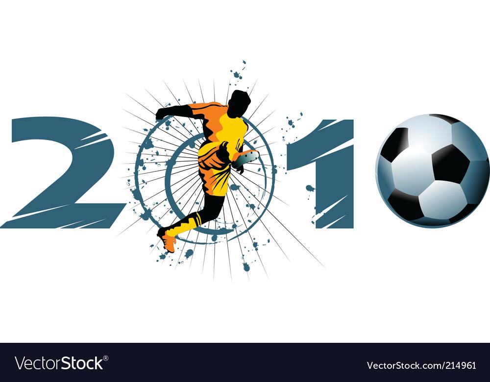 Soccer century vector image