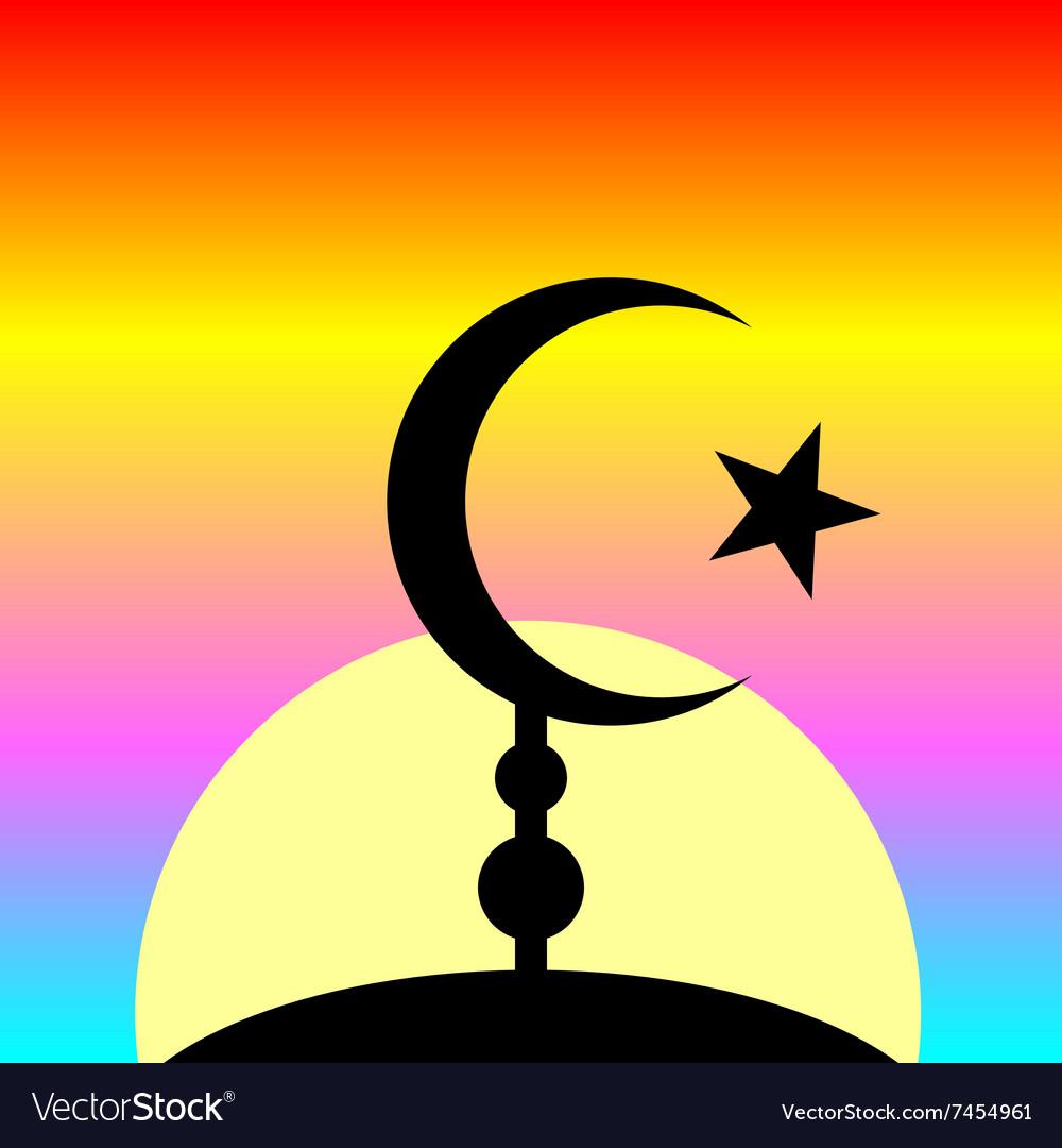 Symbol of islam on sunset background royalty free vector symbol of islam on sunset background vector image buycottarizona Gallery