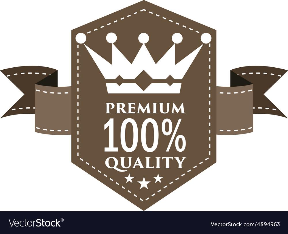 EMBLEM PREMIUM QUALITY vector image