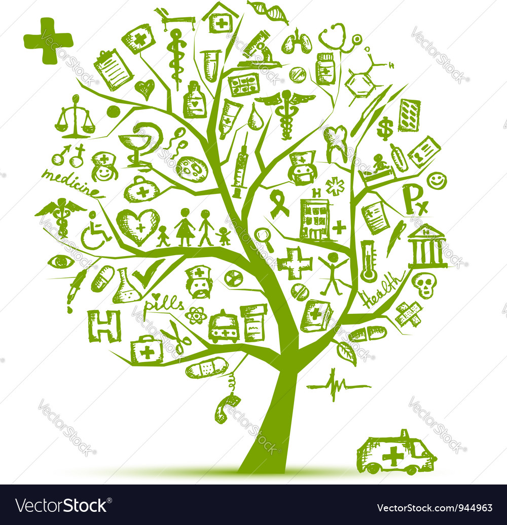 Medical tree concept for your design vector image