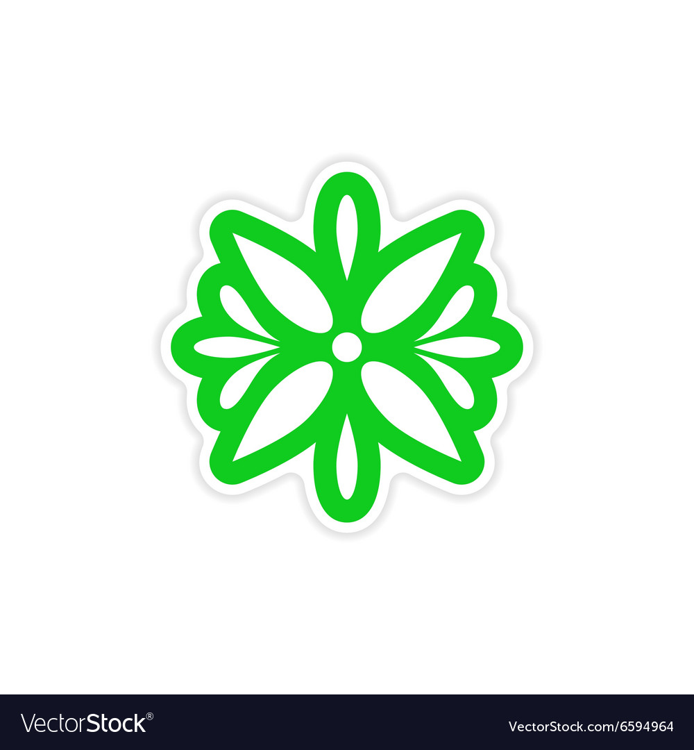 Stylish paper sticker on white background Arabic