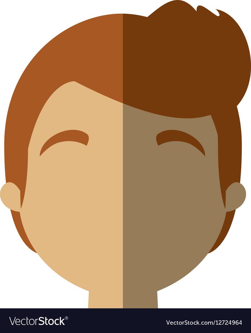 Character face man sport life shadow vector image