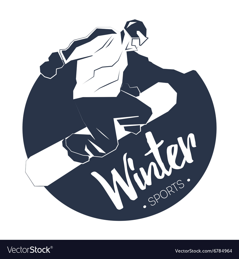Extreme witer sport vector image