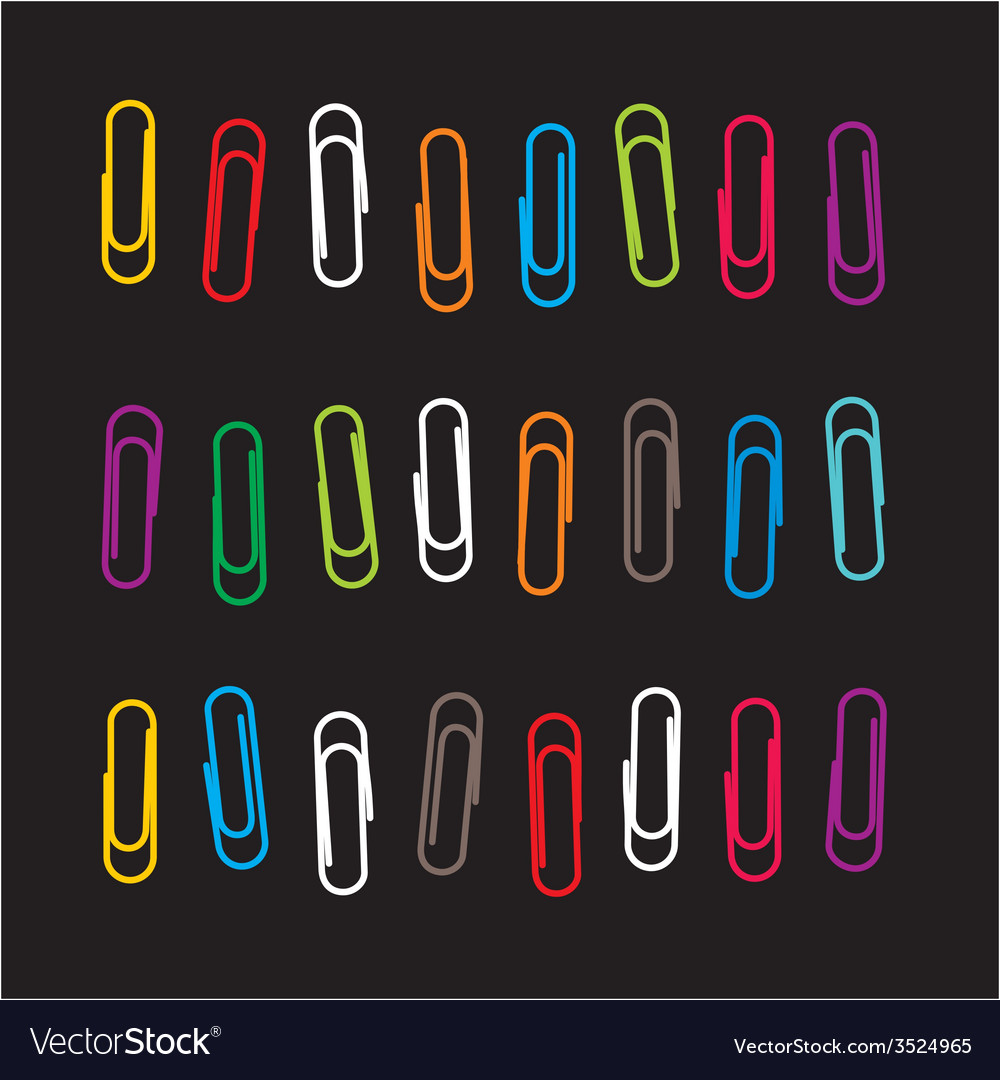 Paper clip pattern vector image