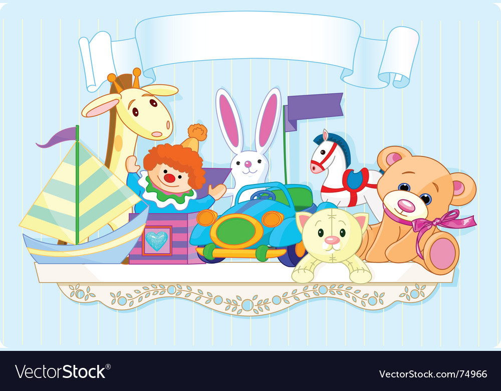 Toy shelf vector image