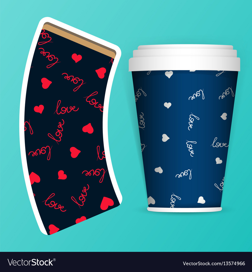 Photorealistic 3d eps10 paper coffee cup vector image