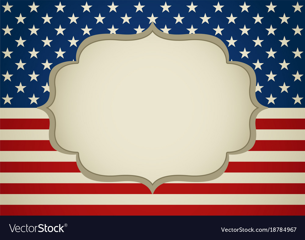 Blank frame on america insignia Royalty Free Vector Image