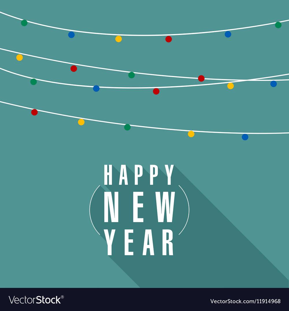 Christmas and New Year garland vector image
