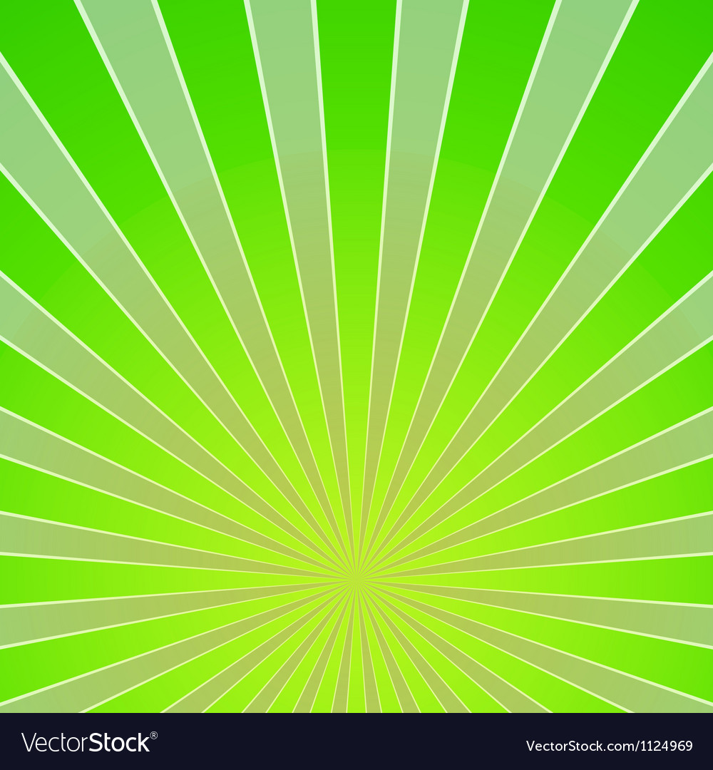 Green Light Beam Background Vector Image