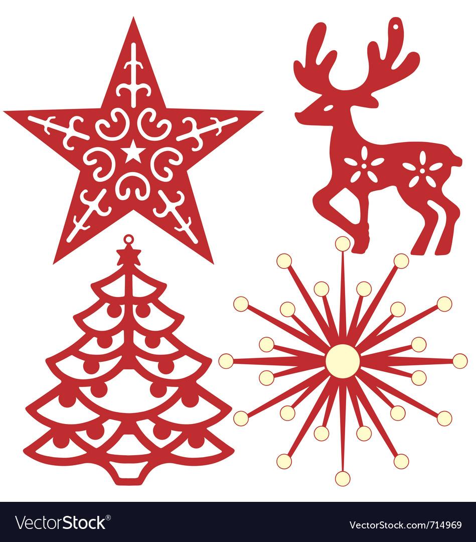 Christmas Tree Decoration Royalty Free Vector Image