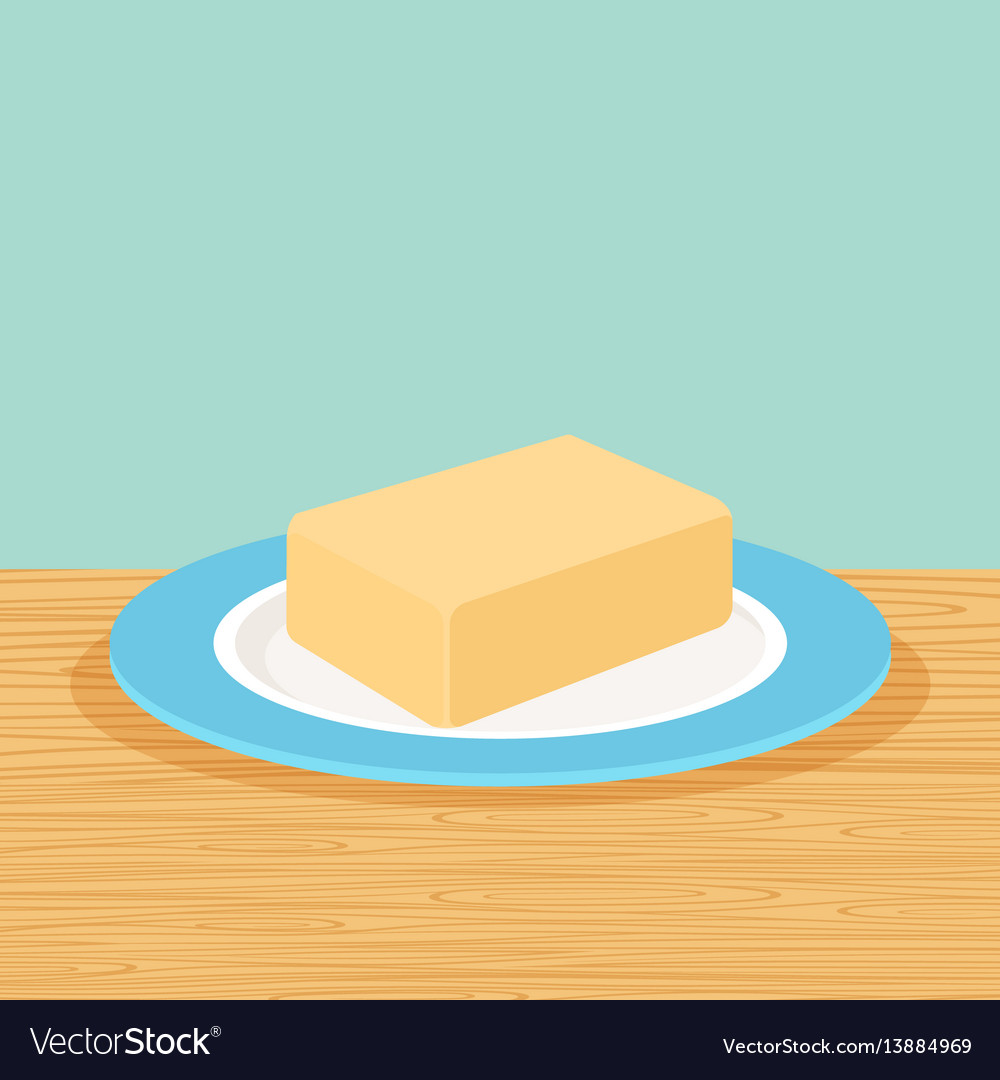 Farm butter on the table vector image