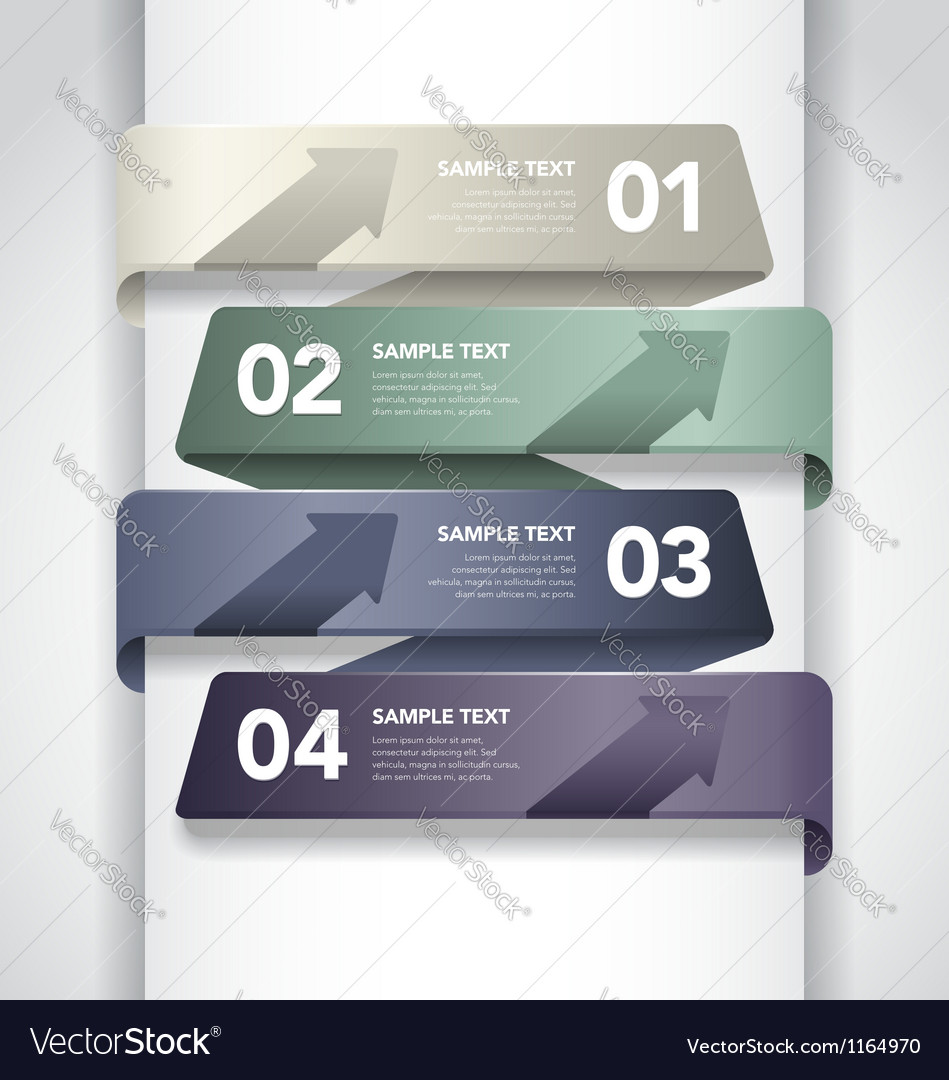 Numbered Banner Design vector image