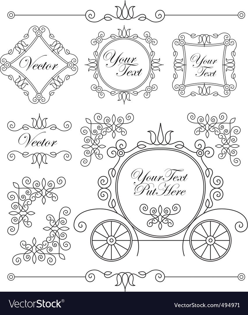 Set vintage ornaments vector image
