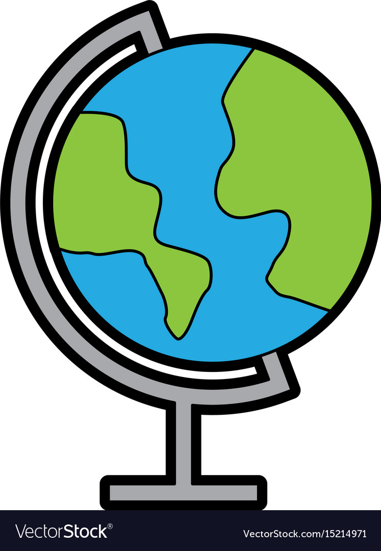 Color world map cartoon royalty free vector image color world map cartoon vector image sciox Images