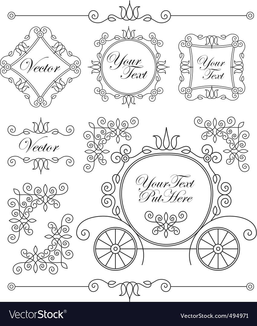Set vintage ornaments vector image