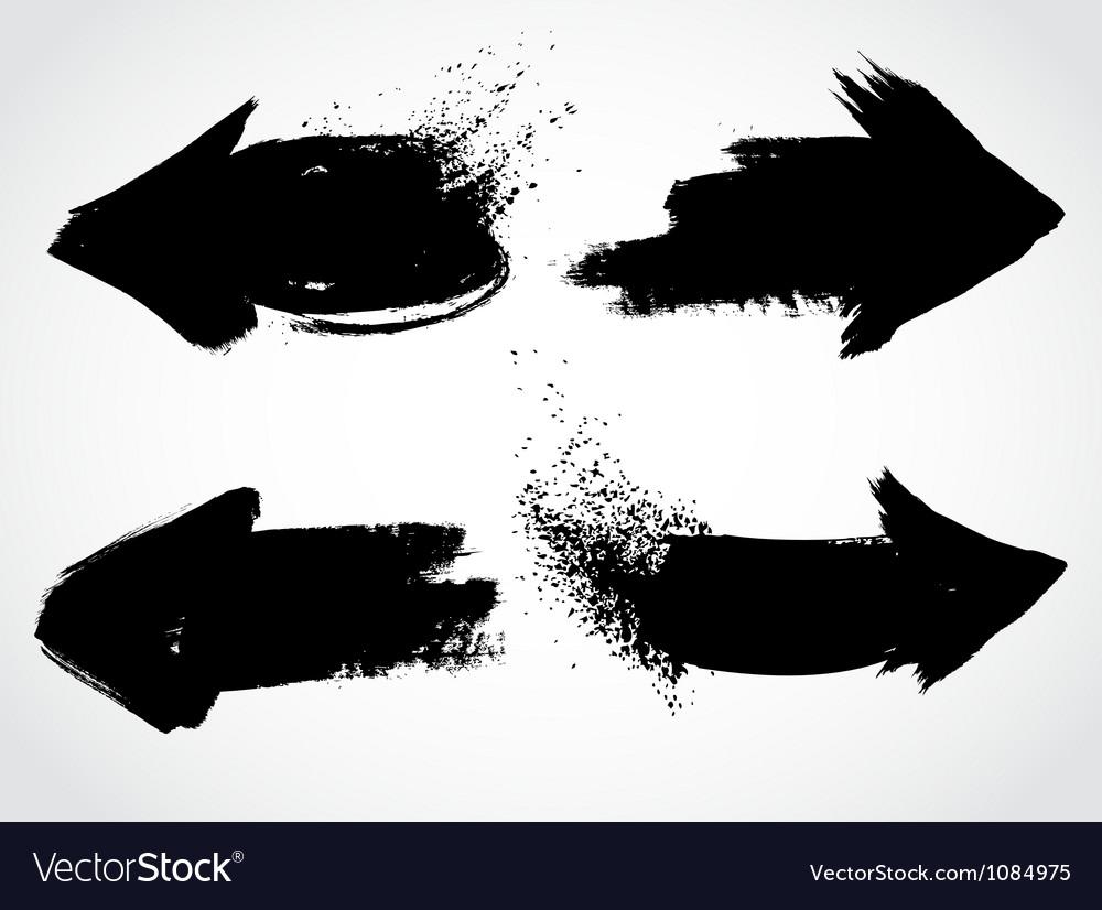 Arrows grunge set vector image