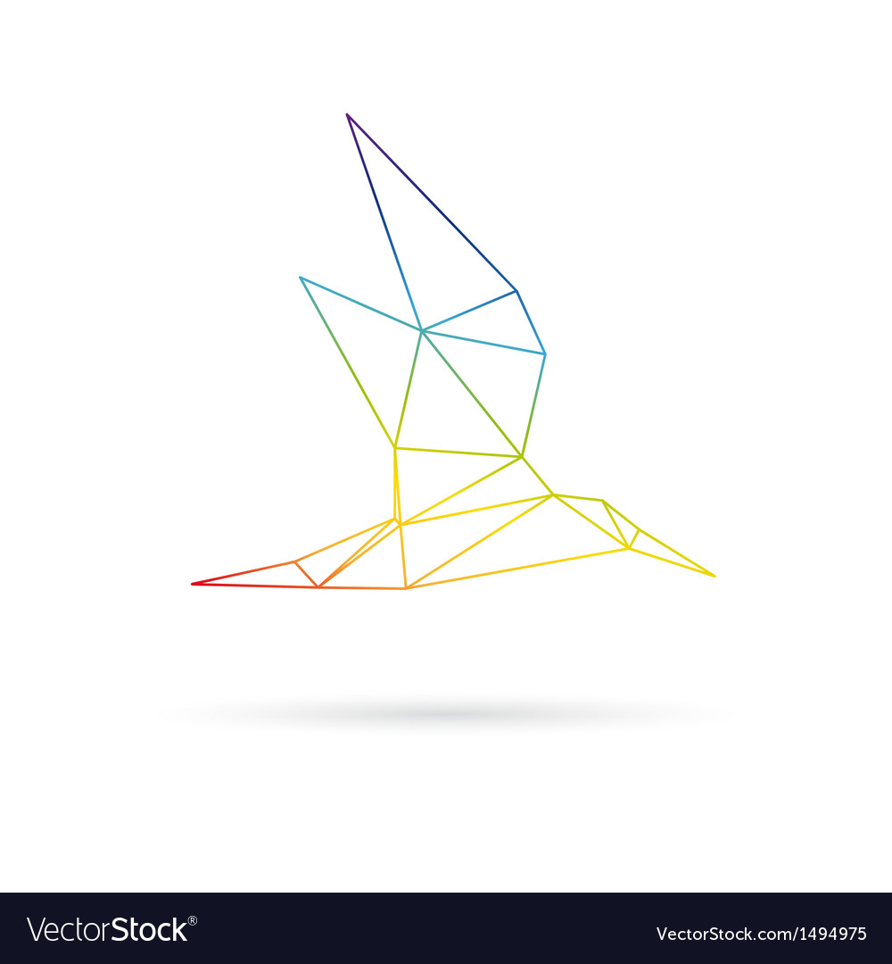 Bird abstract isolated on a white backgrounds vector image