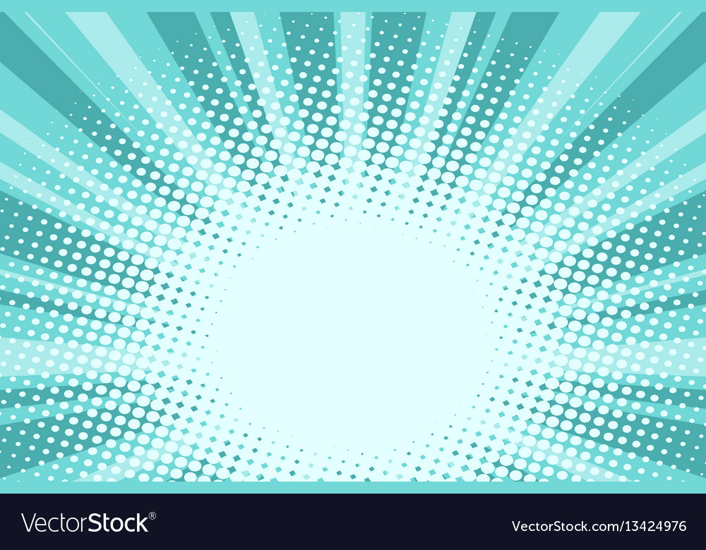 Green nature sunrise pop art background vector image