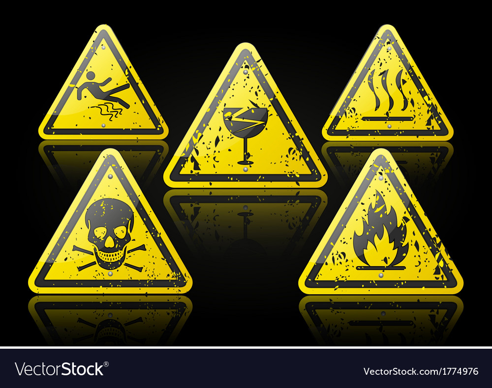Grunge Danger Sign vector image
