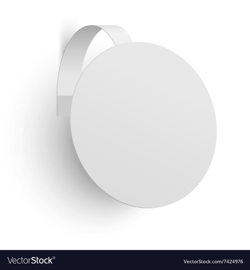 White advertising wobbler isolated vector image