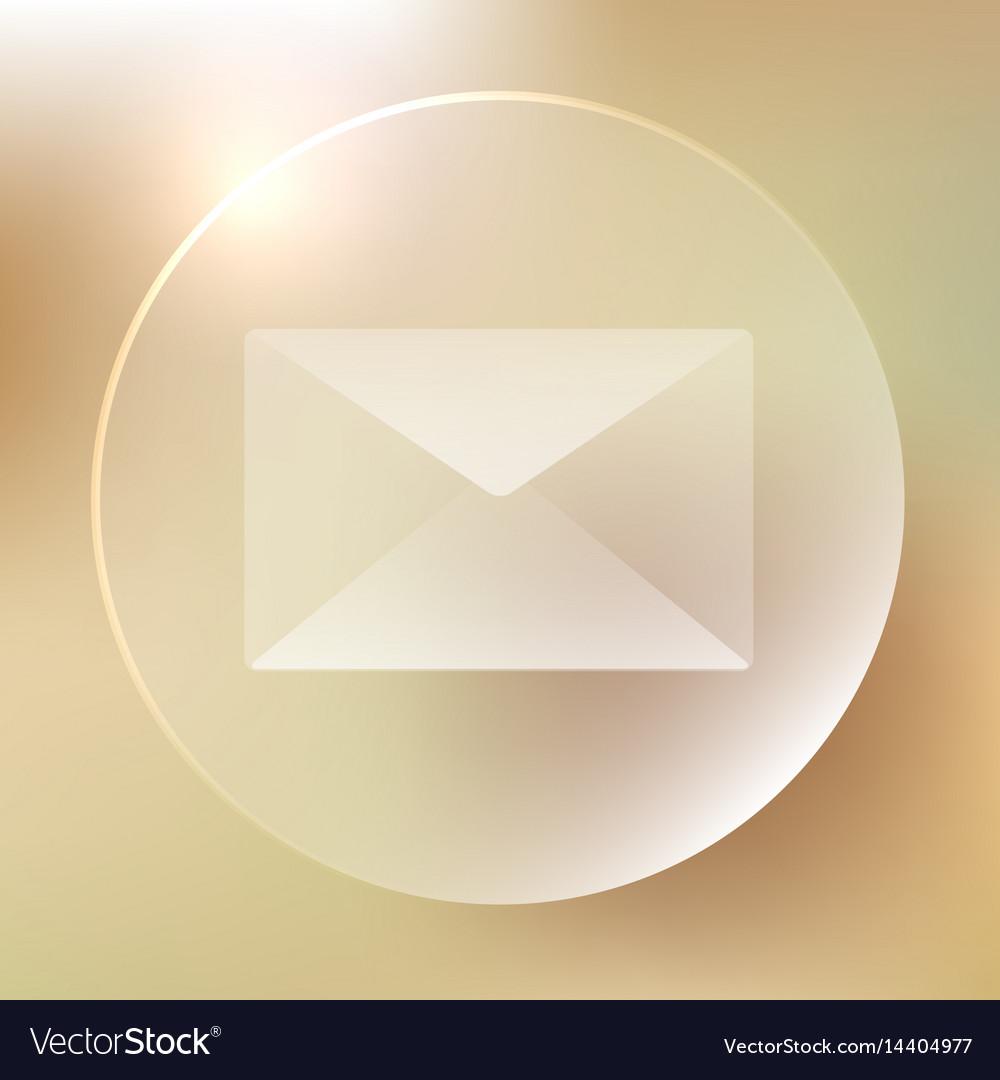 Envelope glassy icon envelope glassy icon vector image