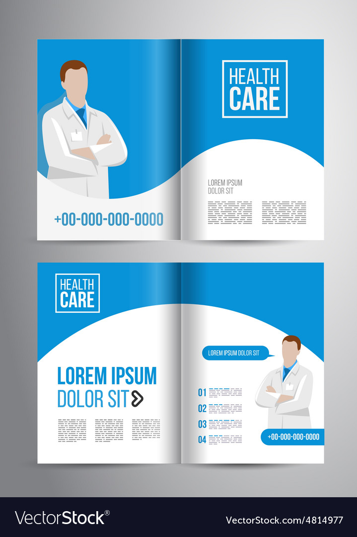 Healthcare Brochure Royalty Free Vector Image  Vectorstock