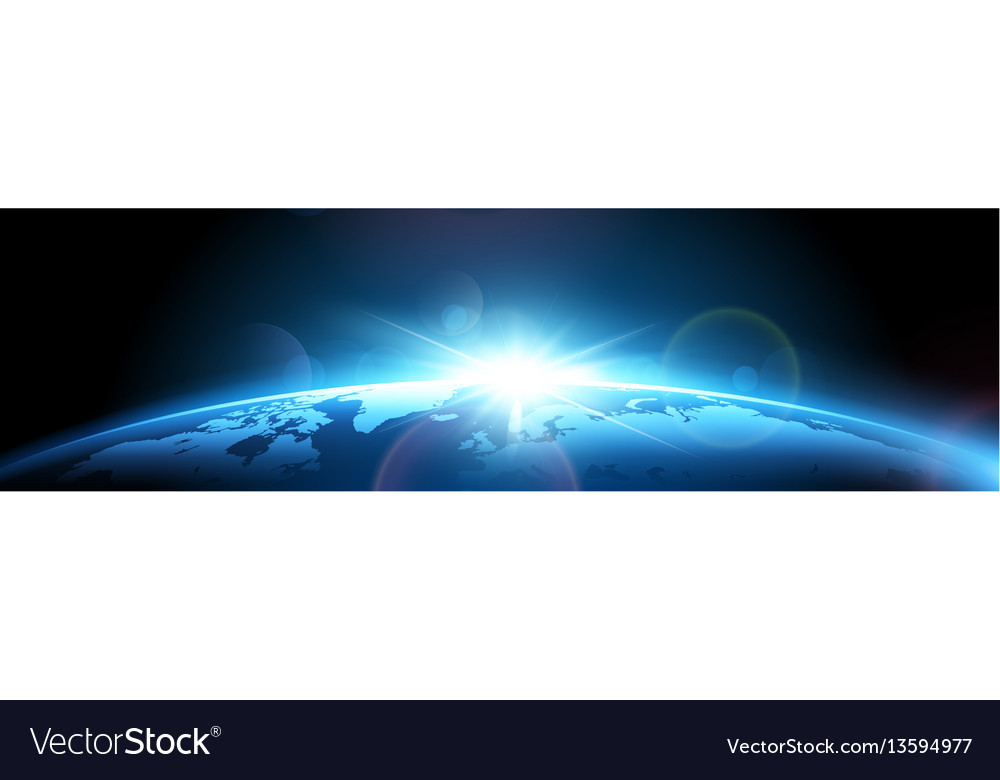 Planet earth with sun vector image