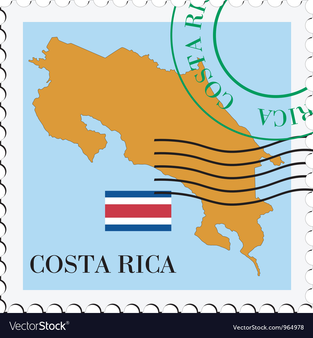 Mail to-from Costa Rica vector image