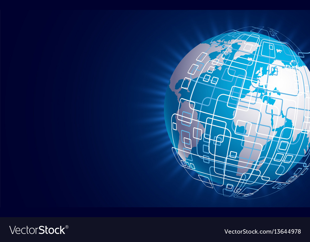 Modern techology concept background global vector image