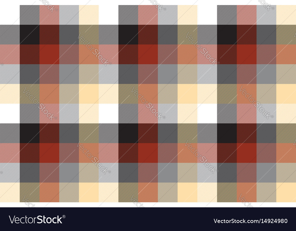 Beige color check plaid seamless pattern vector image