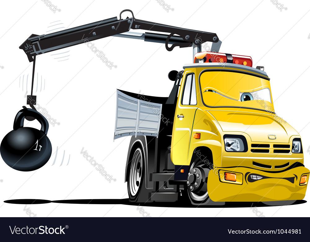 Cartoon Tow Truck Royalty Free Vector Image - VectorStock